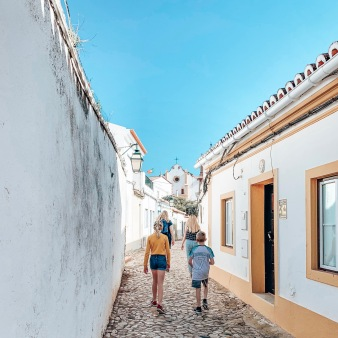 Following all the blondies through Silves, Portugal